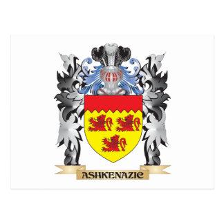 Escudo de armas de Ashkenazic - escudo de la Postales