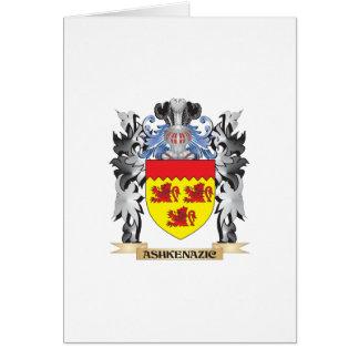 Escudo de armas de Ashkenazic - escudo de la Tarjeta De Felicitación