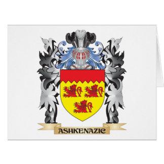 Escudo de armas de Ashkenazic - escudo de la Tarjeta De Felicitación Grande