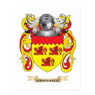 Escudo de armas de Ashkenazic (escudo de la Tarjetas Postales