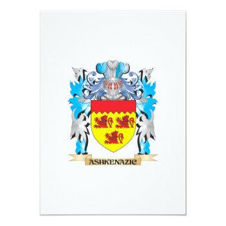"""Escudo de armas de Ashkenazic Invitación 5"""" X 7"""""""