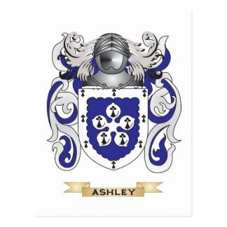 Escudo de armas de Ashley (escudo de la familia) Tarjeta Postal