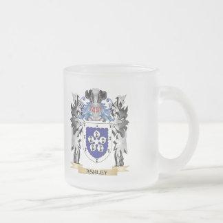 Escudo de armas de Ashley - escudo de la familia Taza Cristal Mate