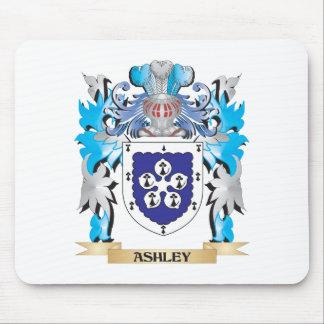 Escudo de armas de Ashley Alfombrillas De Ratón