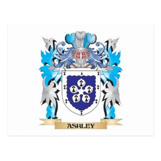 Escudo de armas de Ashley Tarjetas Postales
