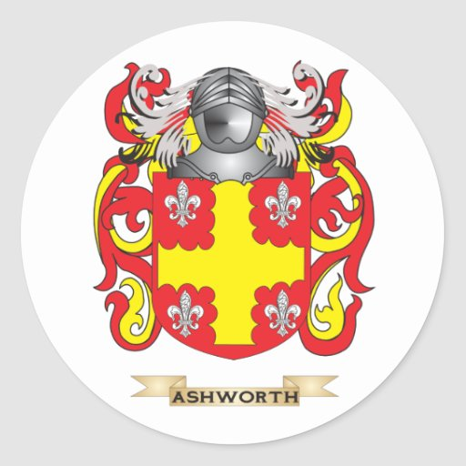 Escudo de armas de Ashworth (escudo de la familia) Pegatinas Redondas