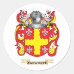 Escudo de armas de Ashworth (escudo de la familia) Pegatina Redonda