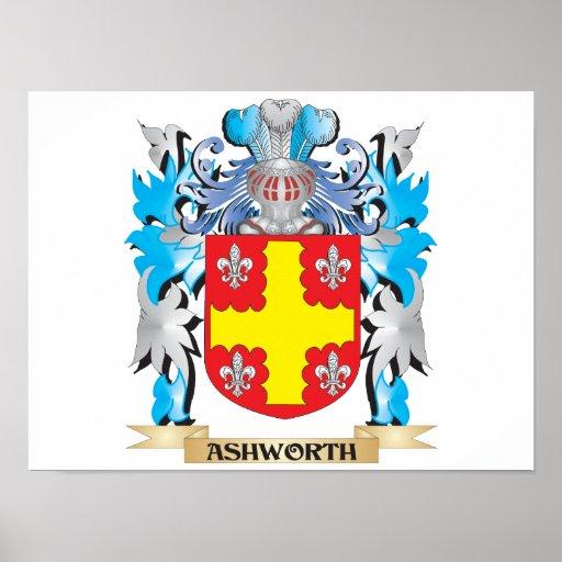 Escudo de armas de Ashworth Poster