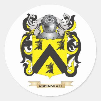 Escudo de armas de Aspinwall (escudo de la Pegatinas Redondas