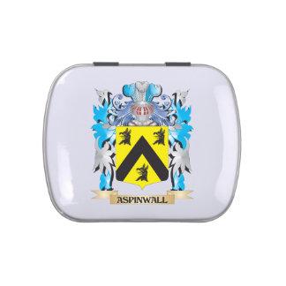 Escudo de armas de Aspinwall Frascos De Caramelos