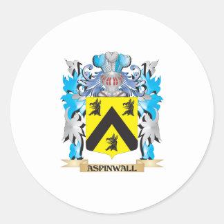 Escudo de armas de Aspinwall Etiqueta Redonda