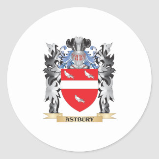 Escudo de armas de Astbury - escudo de la familia Pegatina Redonda