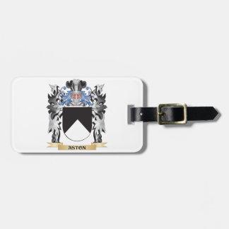 Escudo de armas de Aston - escudo de la familia Etiquetas Maletas