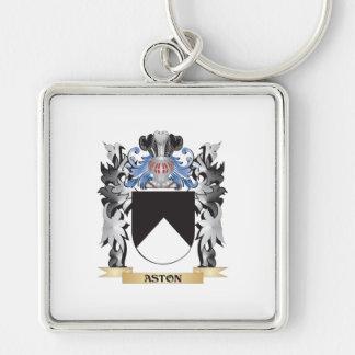 Escudo de armas de Aston - escudo de la familia Llavero Cuadrado Plateado