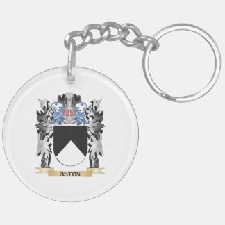 Escudo de armas de Aston - escudo de la familia Llavero Redondo Acrílico A Doble Cara