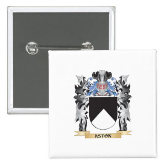Escudo de armas de Aston - escudo de la familia Pin Cuadrada 5 Cm