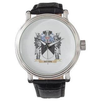 Escudo de armas de Aston - escudo de la familia Reloj De Mano
