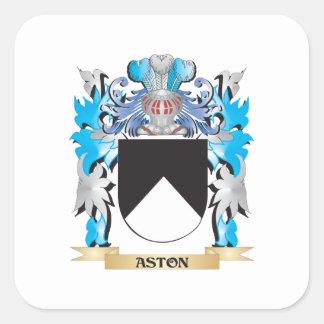 Escudo de armas de Aston Pegatinas Cuadradases