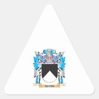 Escudo de armas de Aston Pegatina De Triangulo Personalizadas