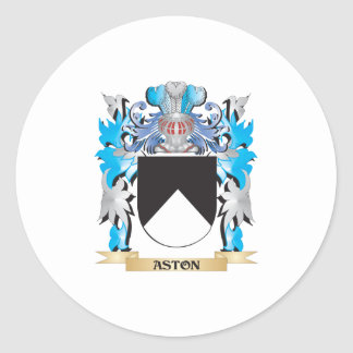 Escudo de armas de Aston Pegatina Redonda