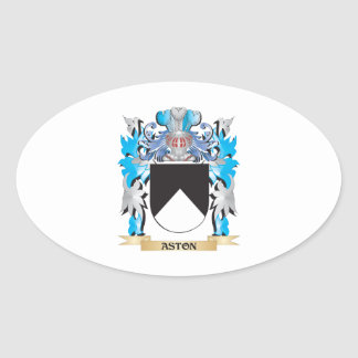 Escudo de armas de Aston Pegatinas Ovaladas