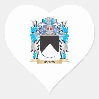Escudo de armas de Aston Calcomania De Corazon