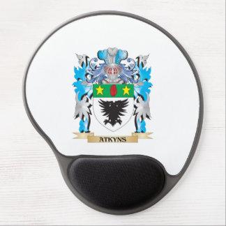 Escudo de armas de Atkyns Alfombrillas De Ratón Con Gel