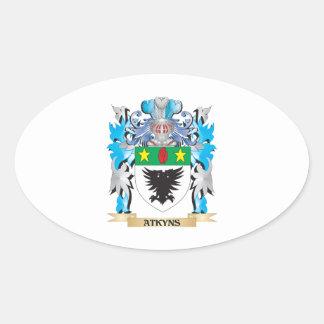 Escudo de armas de Atkyns Calcomanía Ovalada