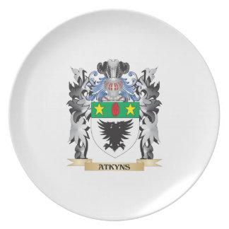 Escudo de armas de Atkyns - escudo de la familia Plato De Comida