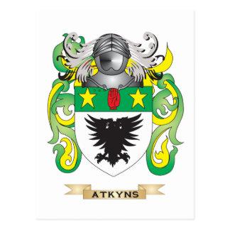 Escudo de armas de Atkyns (escudo de la familia) Postal