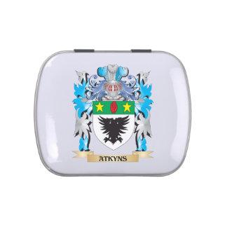 Escudo de armas de Atkyns Latas De Caramelos