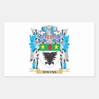 Escudo de armas de Atkyns Rectangular Pegatina