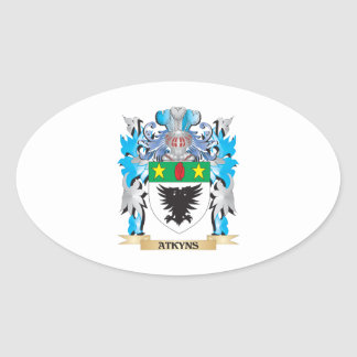 Escudo de armas de Atkyns Calcomania Ovalada