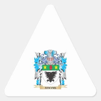 Escudo de armas de Atkyns Pegatina Trianguladas Personalizadas