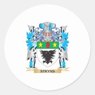 Escudo de armas de Atkyns Etiqueta Redonda