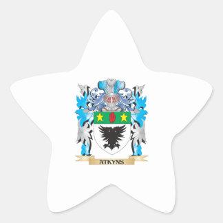 Escudo de armas de Atkyns Calcomanías Forma De Estrella Personalizadas