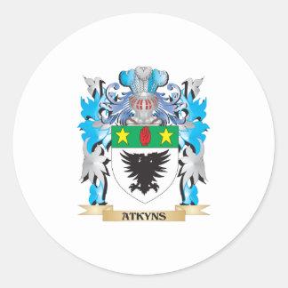 Escudo de armas de Atkyns Etiquetas Redondas