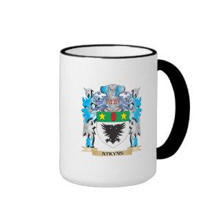 Escudo de armas de Atkyns Taza A Dos Colores