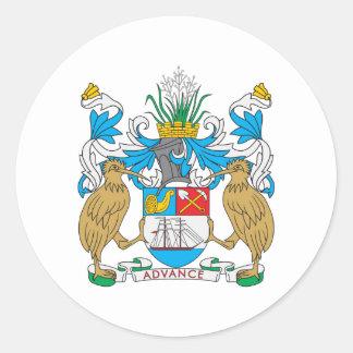 Escudo de armas de Auckland Pegatina Redonda
