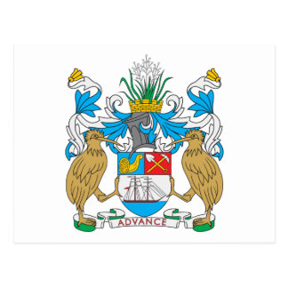 Escudo de armas de Auckland Tarjeta Postal