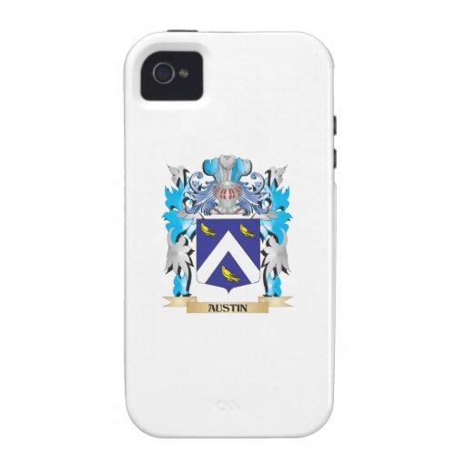 Escudo de armas de Austin iPhone 4 Carcasas