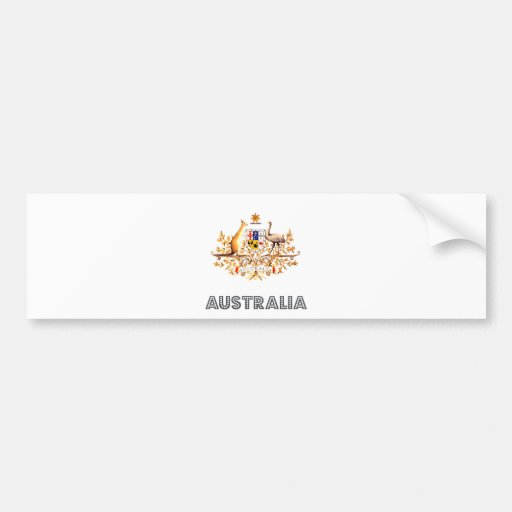 Escudo de armas de Australia Etiqueta De Parachoque