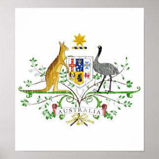 Escudo de armas de Australia Posters
