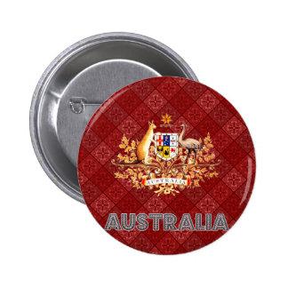 Escudo de armas de Australia Pin Redondo 5 Cm
