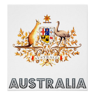 Escudo de armas de Australia Póster