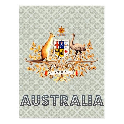 Escudo de armas de Australia Tarjeta Postal