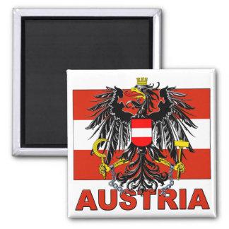 Escudo de armas de Austria Imán Cuadrado