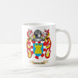 Escudo de armas de Avalos (escudo de la familia) Taza