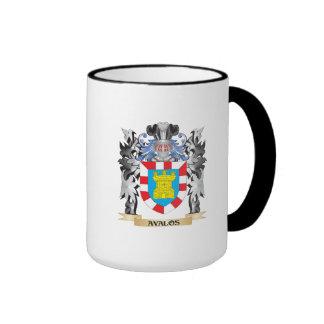 Escudo de armas de Avalos - escudo de la familia Taza De Dos Colores