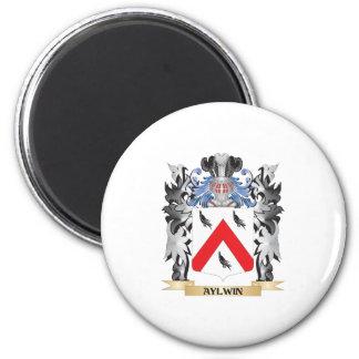 Escudo de armas de Aylwin - escudo de la familia Imán Redondo 5 Cm